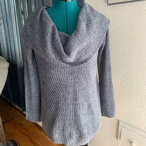 Anthropologie Moth Gray Scoop Neck Sweater SZ XS